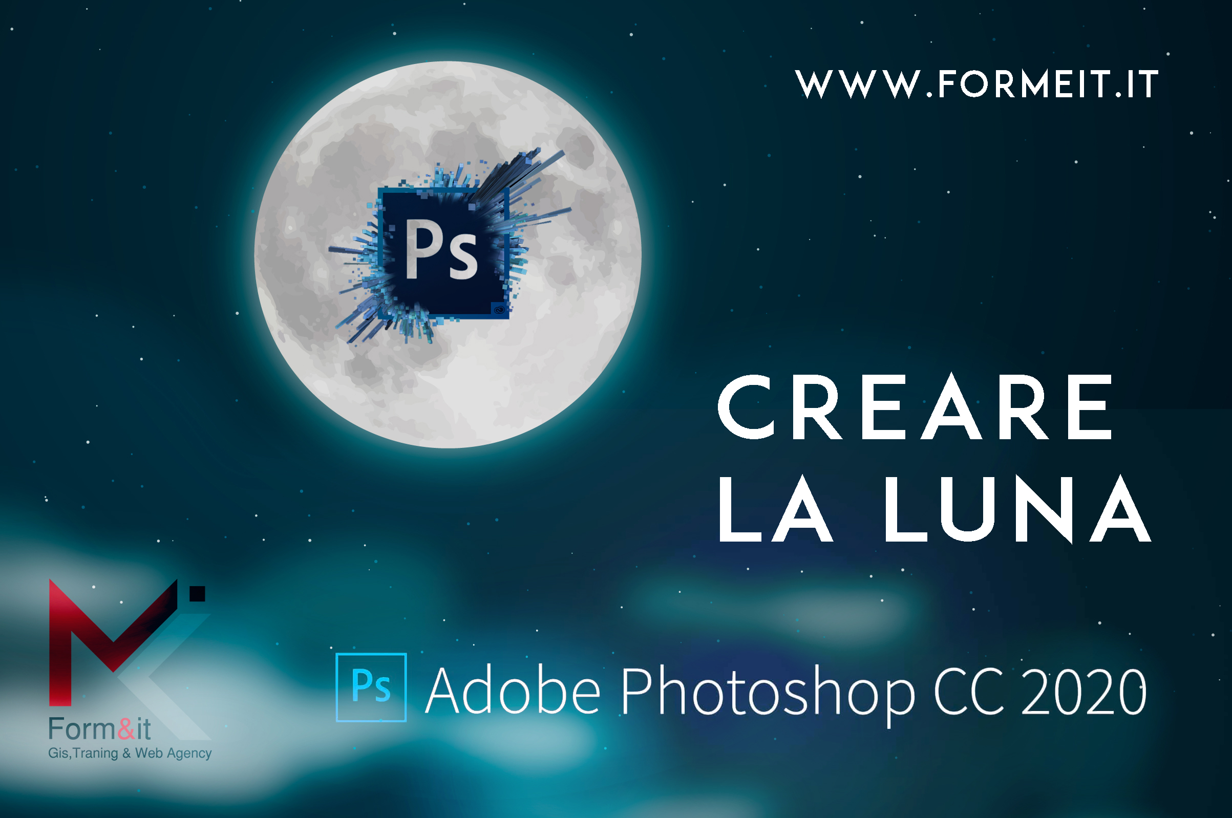 Creare La #Luna con #Photoshop  🌝🌒⭐️👨‍🚀👩‍🚀👨‍🚀